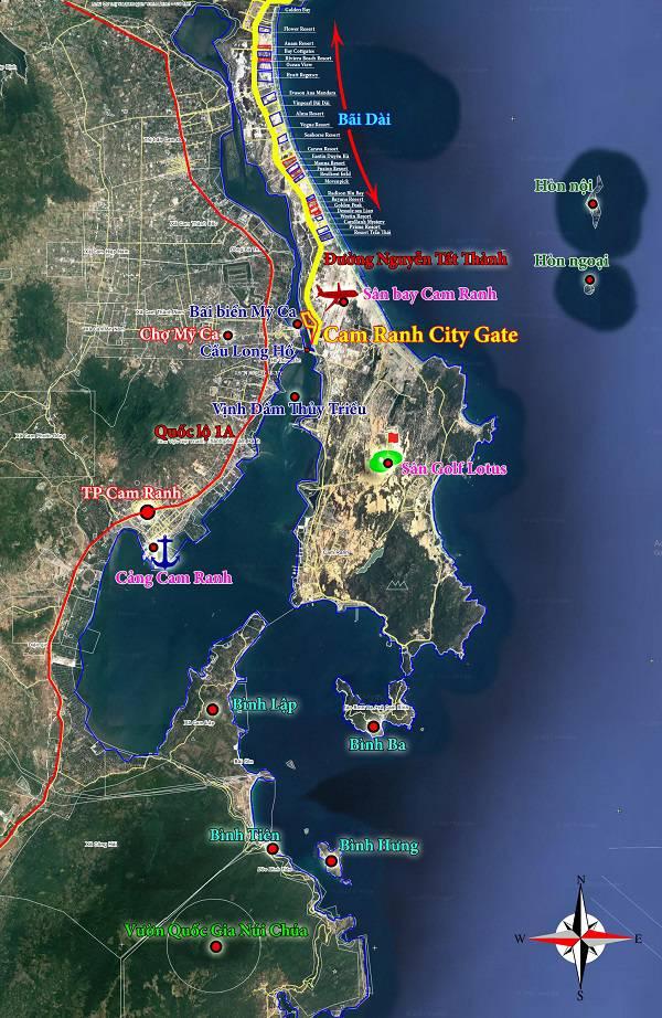 bản đồ cam ranh city gate