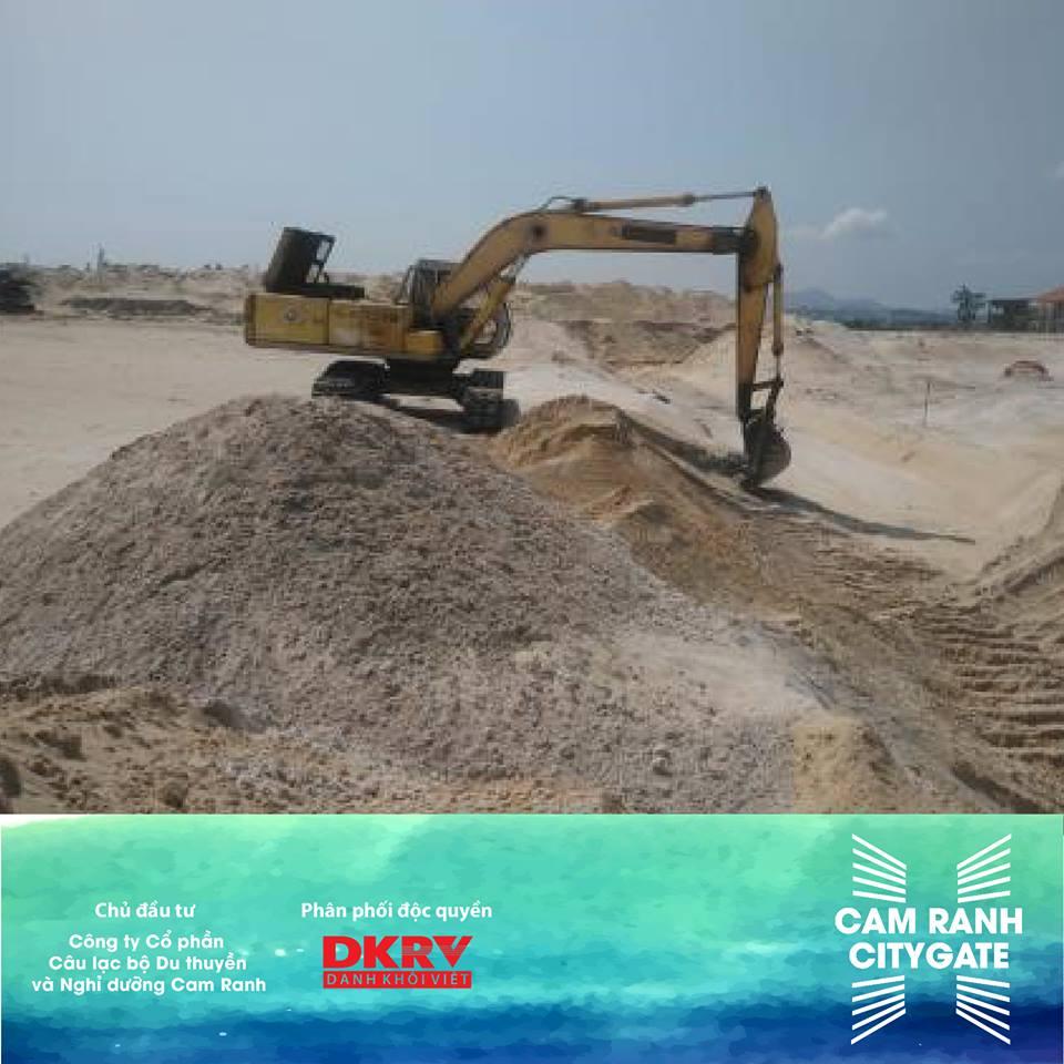 tiến độ xây dựng dự án cam ranh city ngày 2/5/2018
