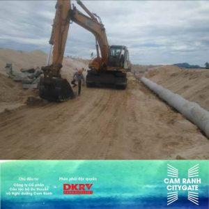 san lắp cát ống thoát nước