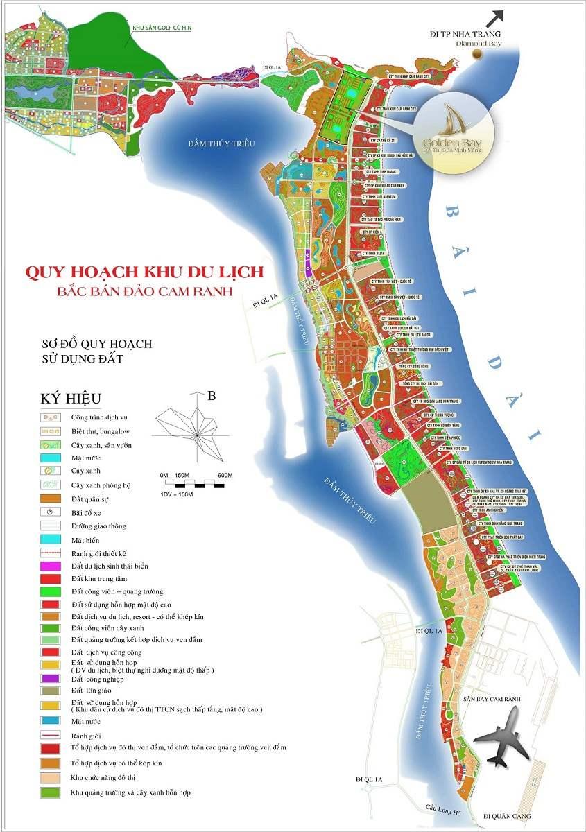 bản đồ quy hoạch bãi dài cam ranh