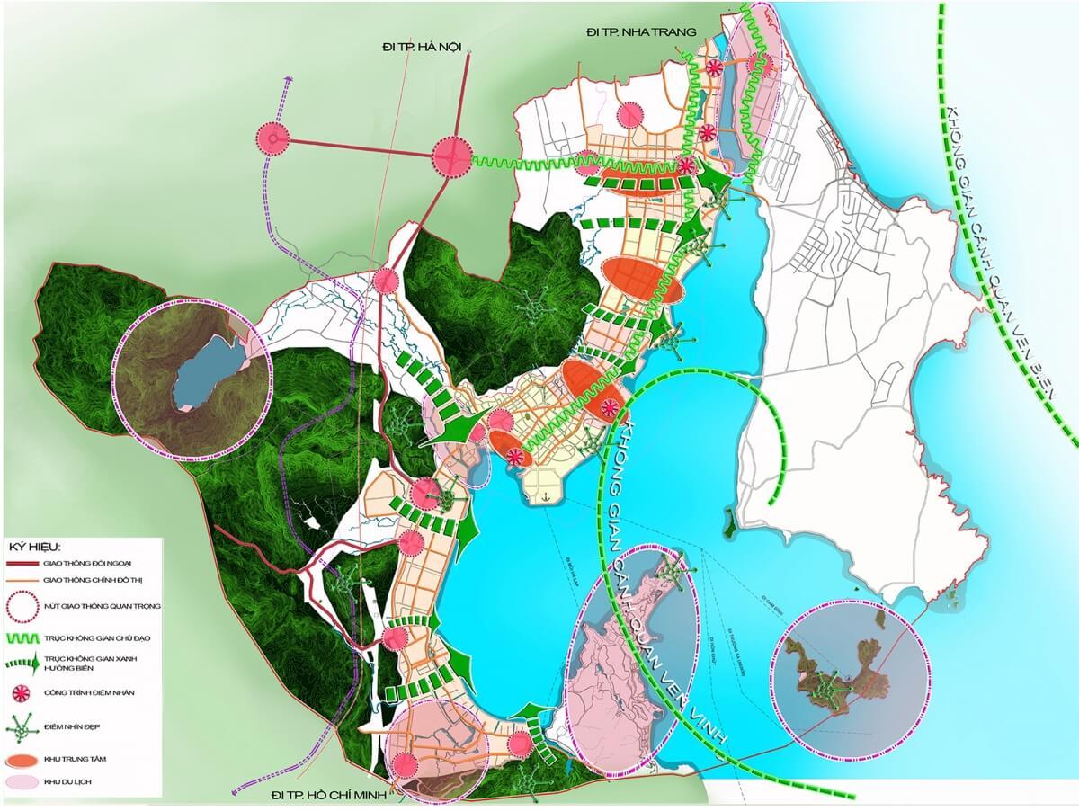Bản đồ quy hoạch đô thị thành phố Cam Ranh