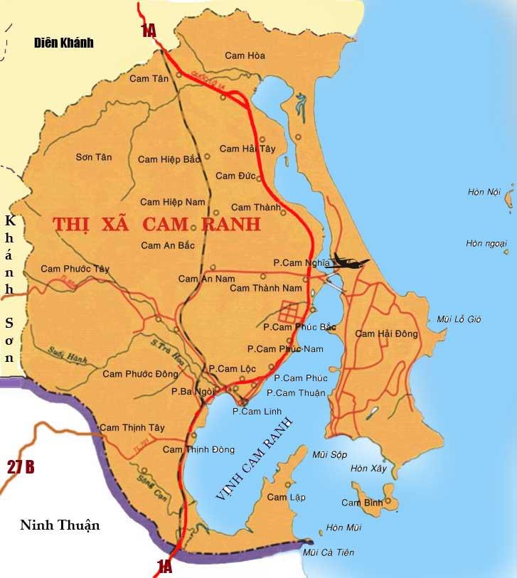 bản đồ quy hoạch thành phố Cam Ranh