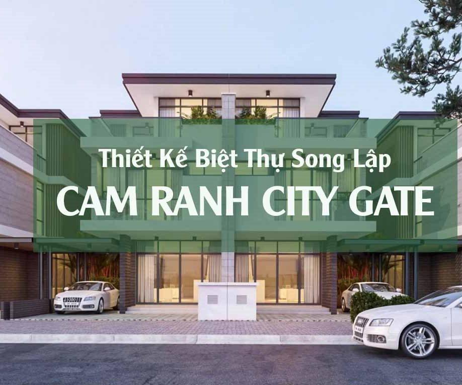 thiết kế biệt thự song lập cam ranh city gate