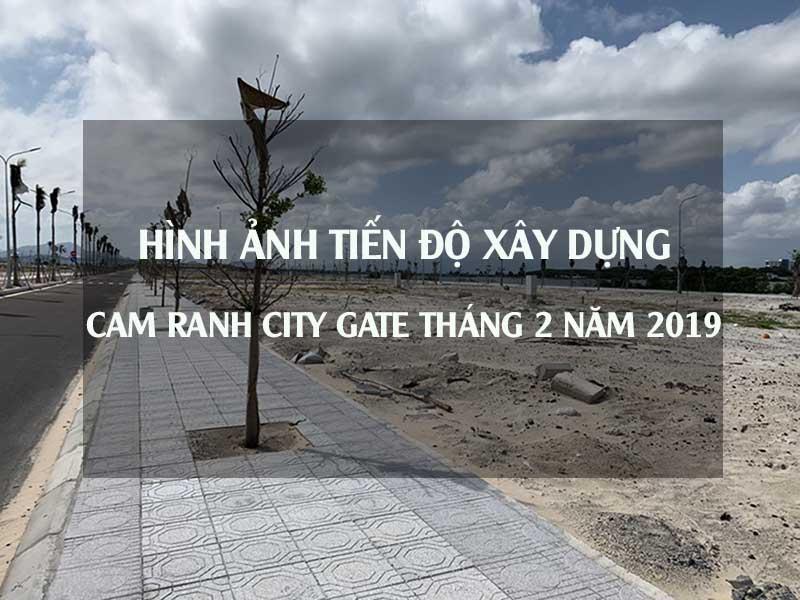 tiến độ thi công cam ranh city gate tháng 2 năm 2019