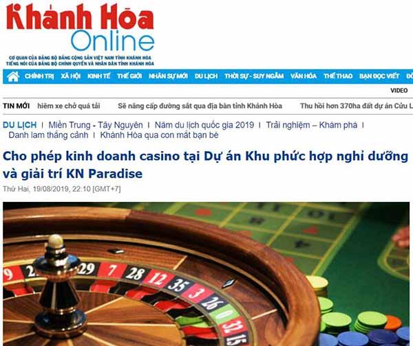 báo khánh hòa đưa tin casino cam ranh