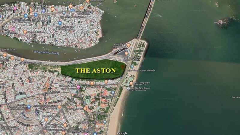 Vị trí trên google maps của dự án The Aston